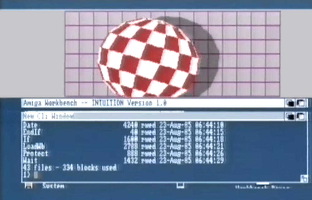 Amiga Bouncing ball demo