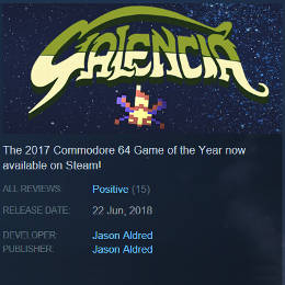 STEAM game page for Galencia