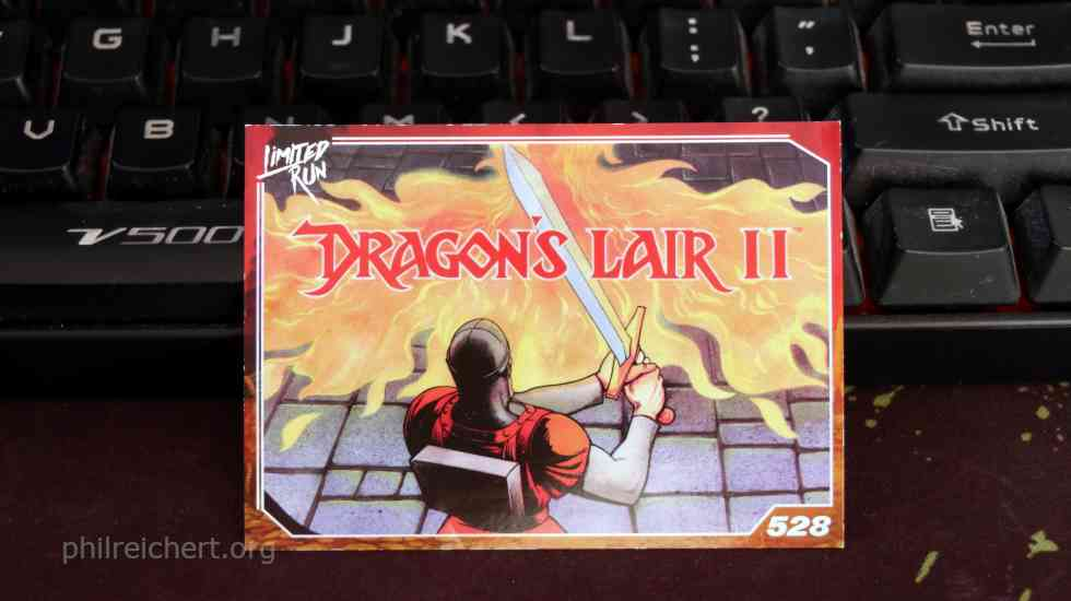 Limited Run Dragon's Lair II Trading Card