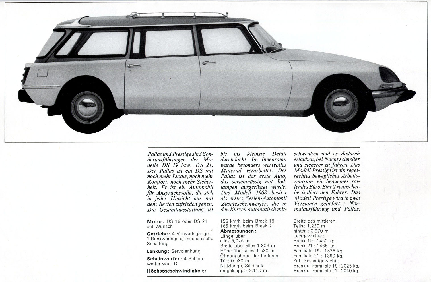 Citroen DS front bonet view