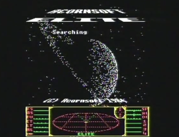 Elite space trading game screenshot on BBC micro