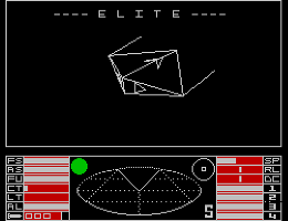 8 bit space trading game on ZX Spectrum