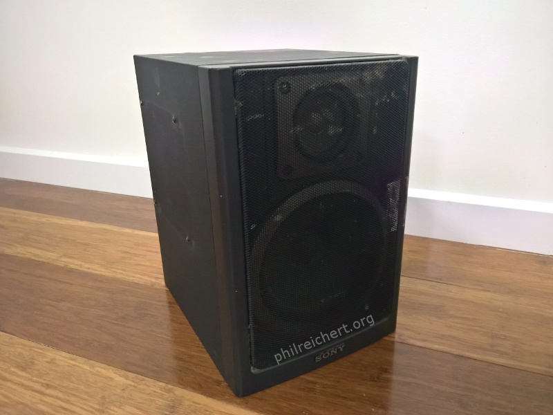 Sony 100mm (4 inch) woofer 1-544-237-21 top view