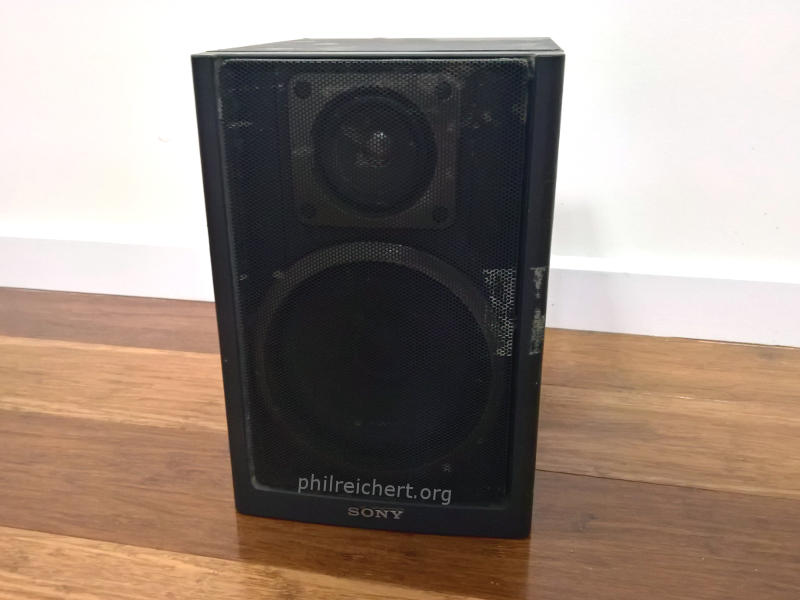 Sony 100mm (4 inch) woofer 1-544-237-21 side top view