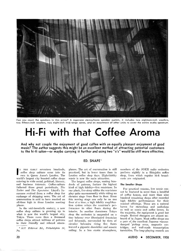 Hi-Fi with that Coffee Aroma
