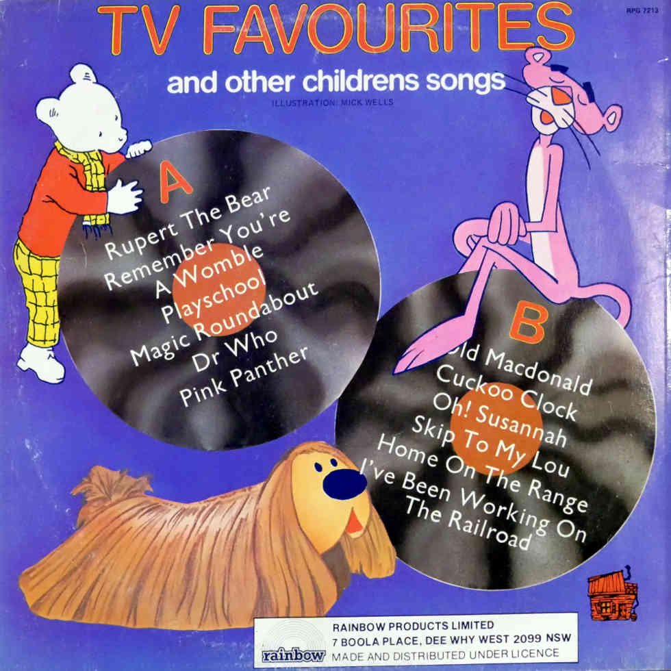 TV Favourites and other Children's Songs vinyl record back sleeve