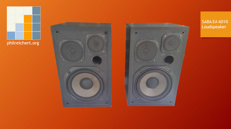 SABA EA 6010 loudspeaker - front view with dust covers off