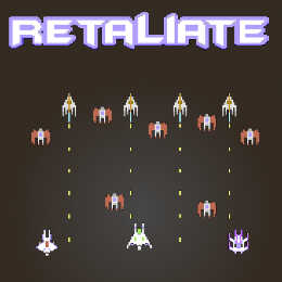 Commodore C64 shoot'em up Retaliate game
