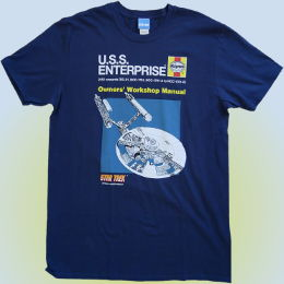 Star Trek Haynes USS Enterprise Owners Workshop Manual tshirt